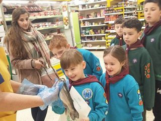 Erith scouts go behind the scenes at Welling supermarket
