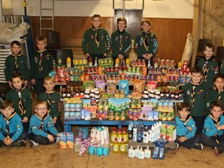 Bromley Scouts raise food bank cash by staying silent