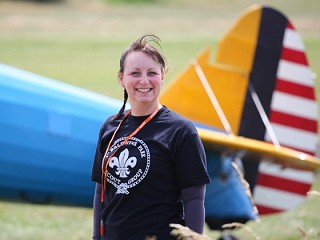 Bexley Scout leader does wing walk for hospital patients